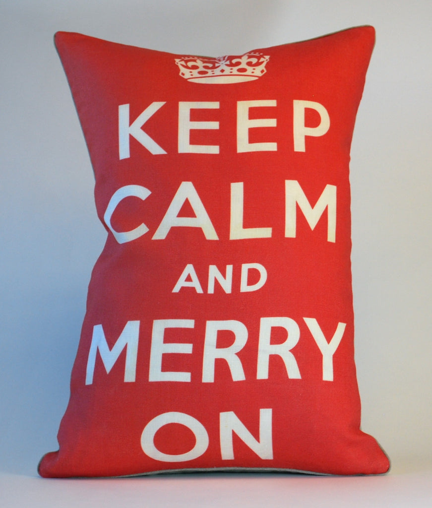 Keep Calm Christmas Pillow P1078