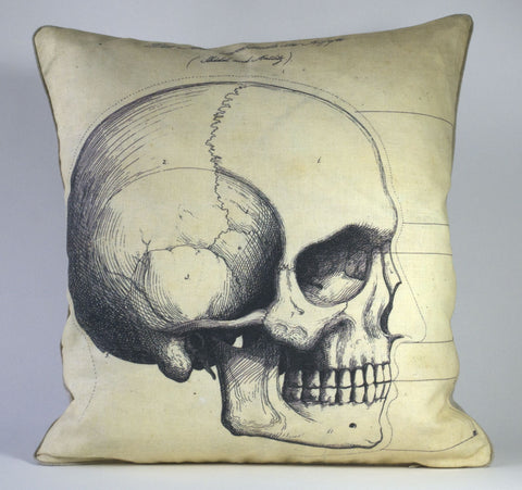 Skull Profile Pillow P1166
