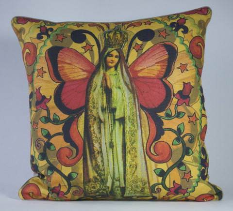 Antique Virgin Pillow P1176