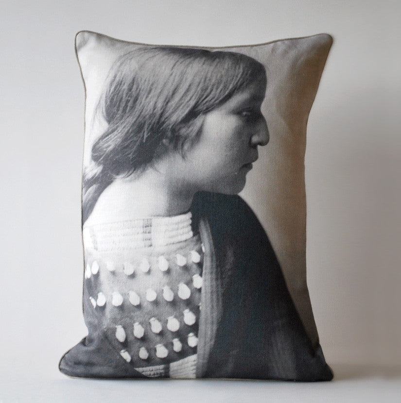 Arikara Girl American Indian Pillow P1004