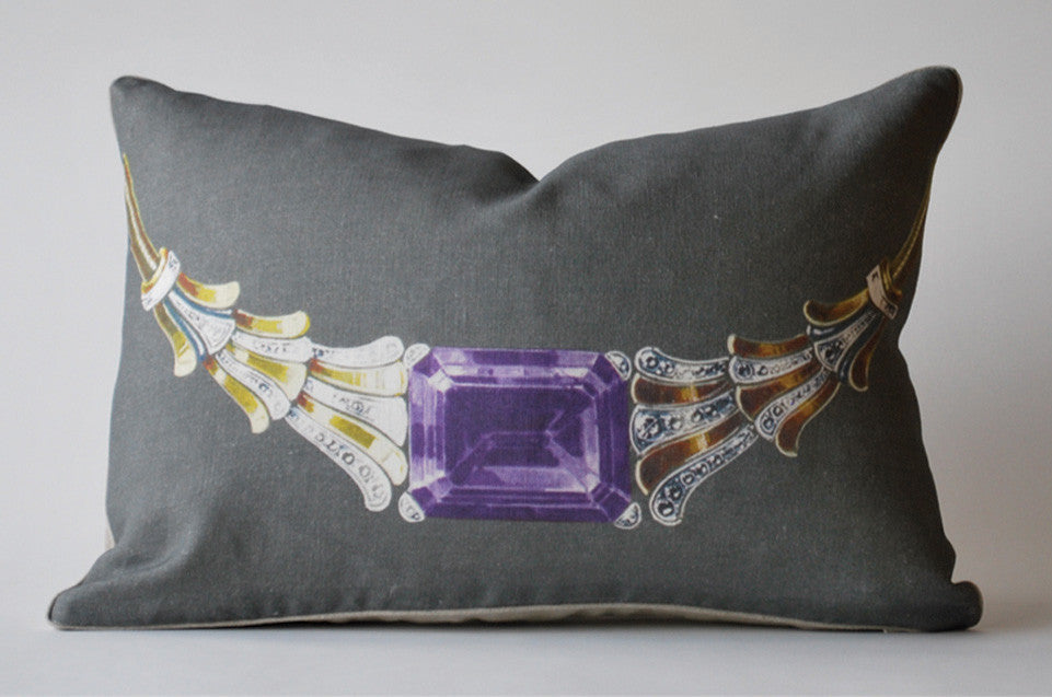 Amethyst Necklace Pillow P1006