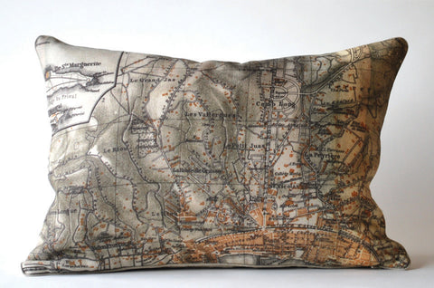 Cannes Map Pillow P1007