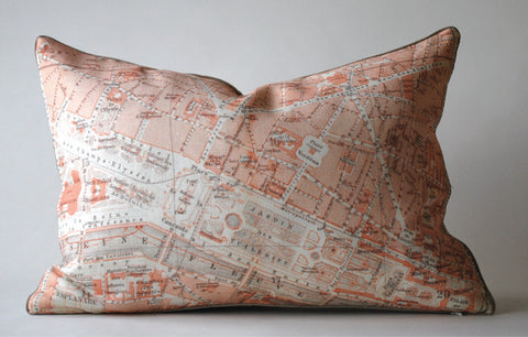 Champs Elysees Map Pillow P1009