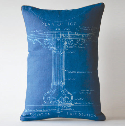 Blueprint Table Pillow P1012