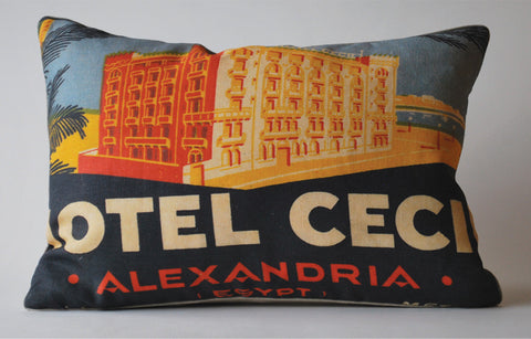 Hotel Cecil, Egypt Pillow P1019
