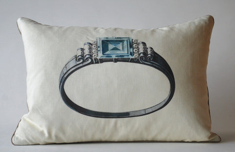 Aquamarine Ring Pillow P1023