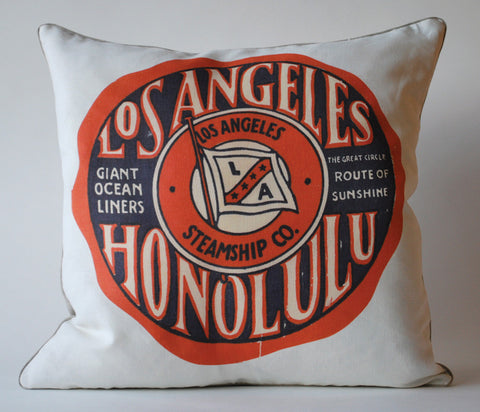 Honolulu Ocean Liner Pillow P1041