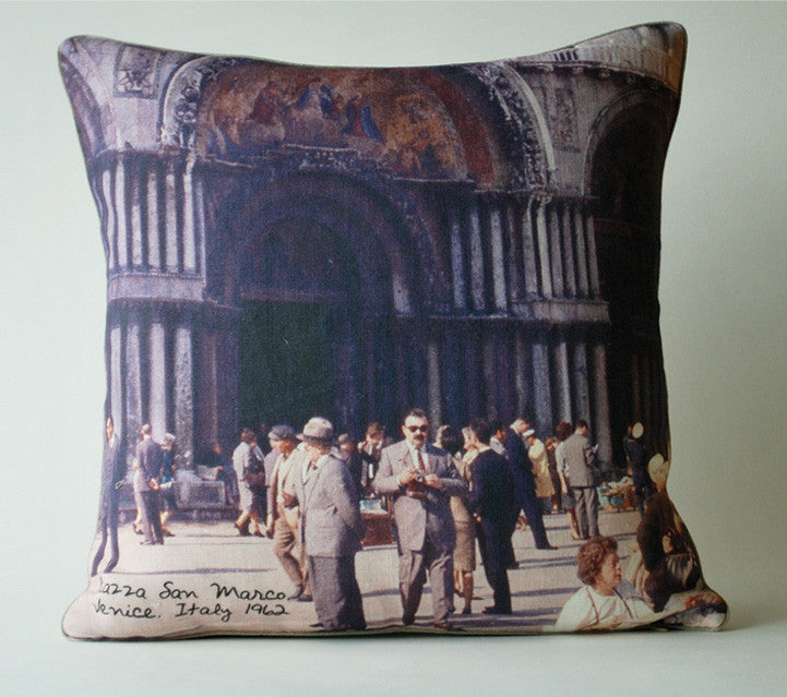 Venice Touristas Pillow P1068