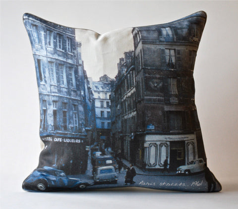 Paris Streets, 1962 Pillow P1072