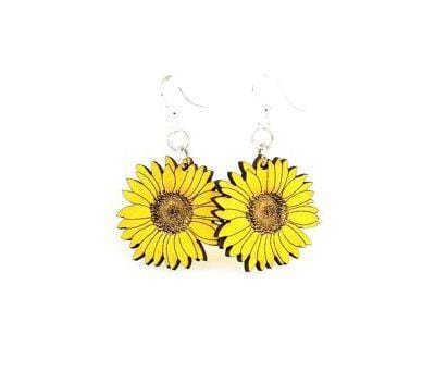 Detailed Sunflower Earrings