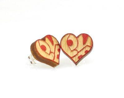 """Love"" Heart Stud Earrings"