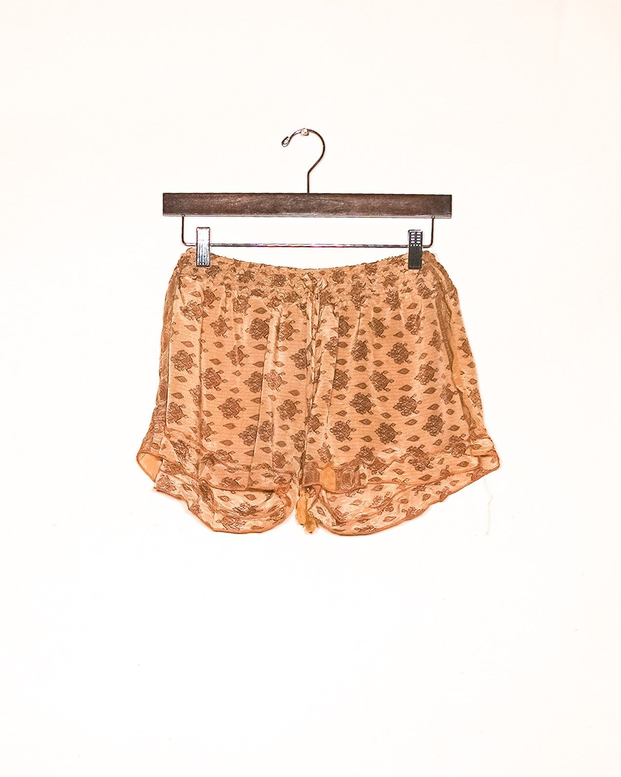Golden Flower Silk Shorts