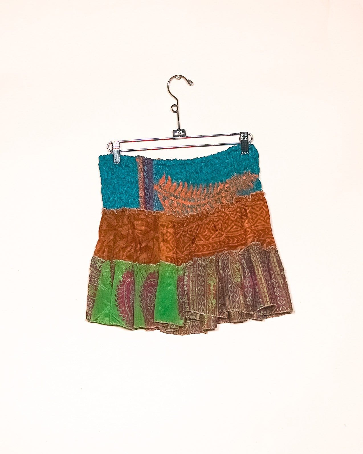 Orange Leaf Silk Mini Skirt / Top