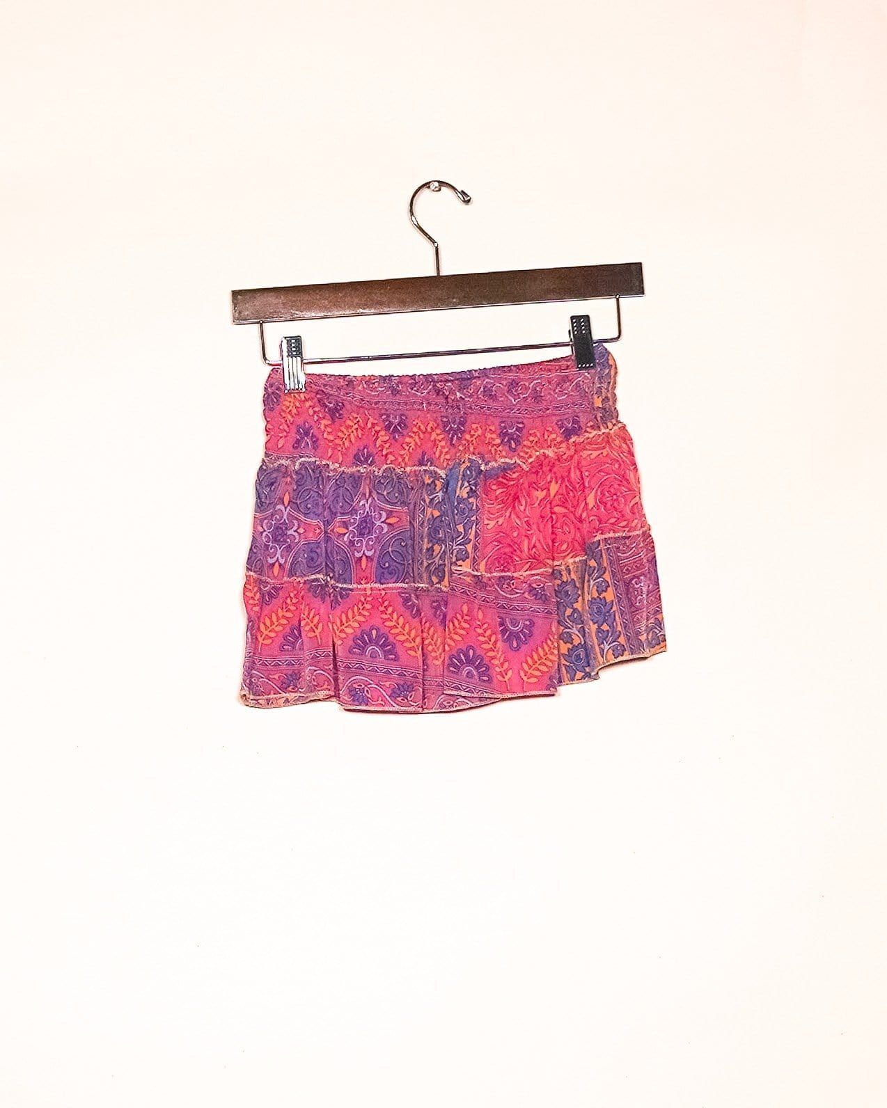 Golden Paisley Silk Mini Skirt / Top