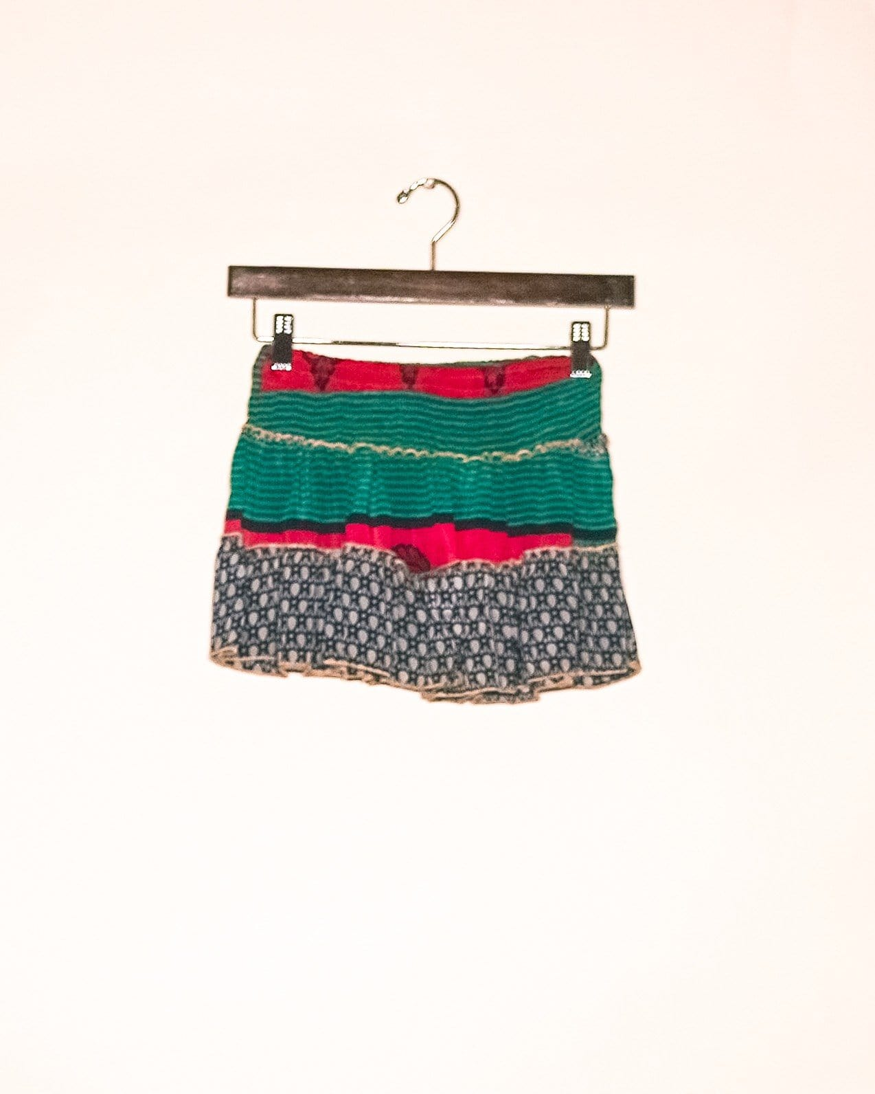 Emerald Silk Mini Skirt / Top
