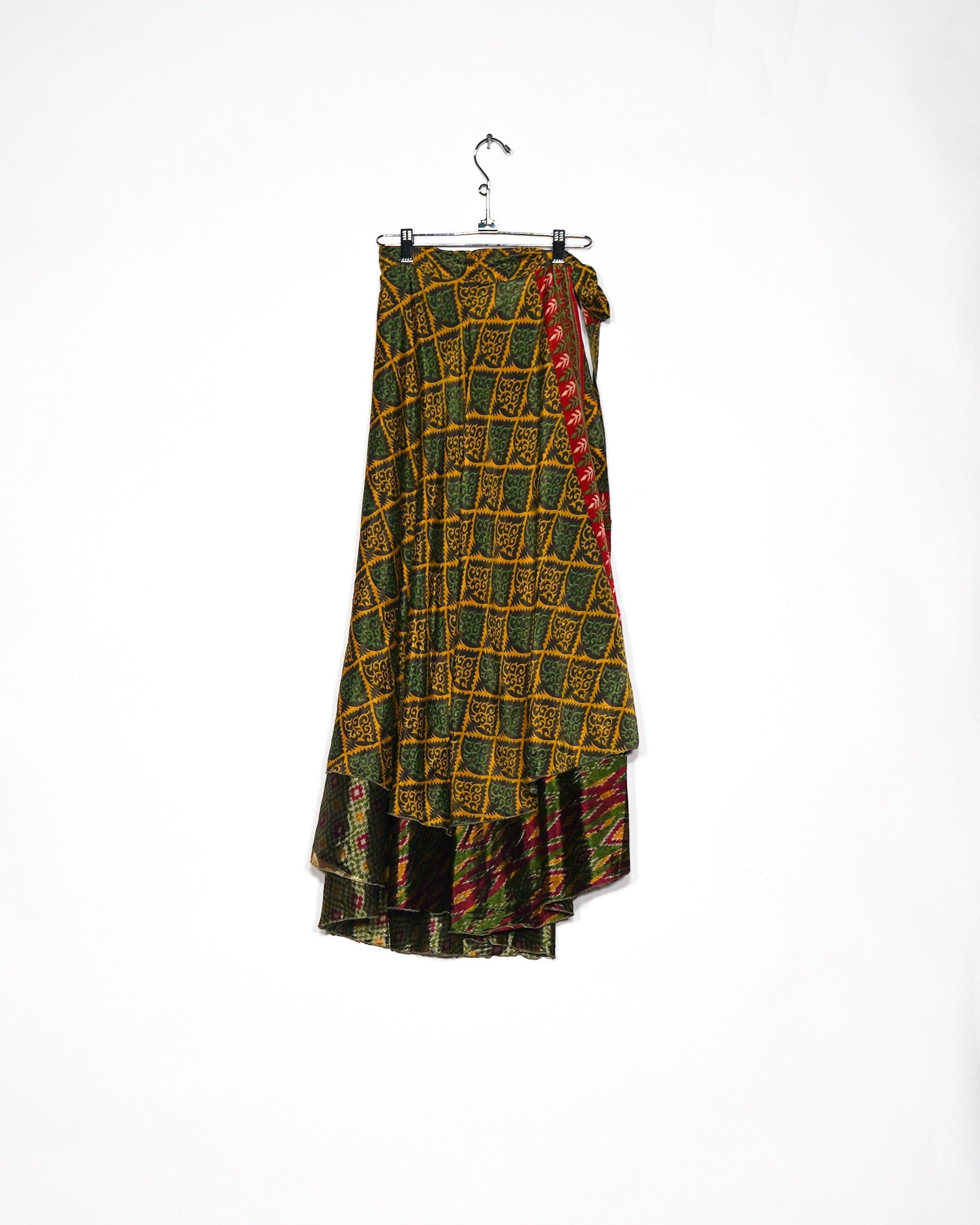 Ornate Silk Wrap Skirt