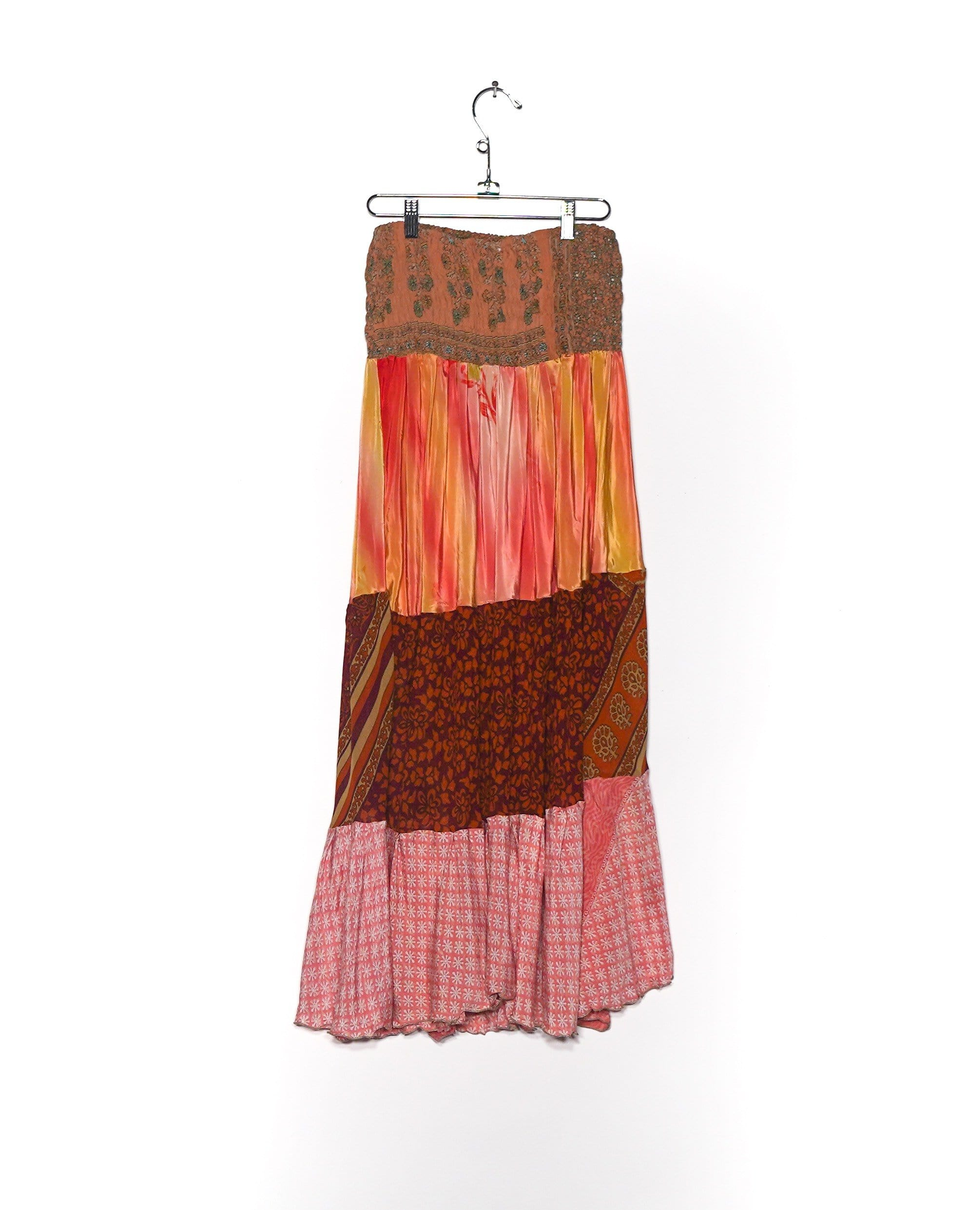 Sunset Kiss Silk Maxi Skirt