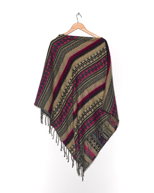 Aztec Pullover Poncho