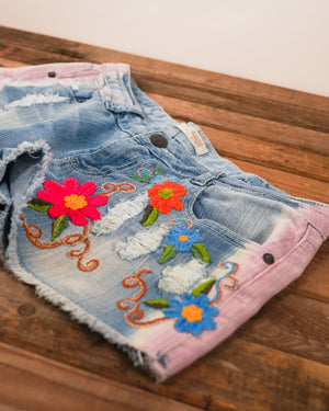 Washed Away Jean Shorts