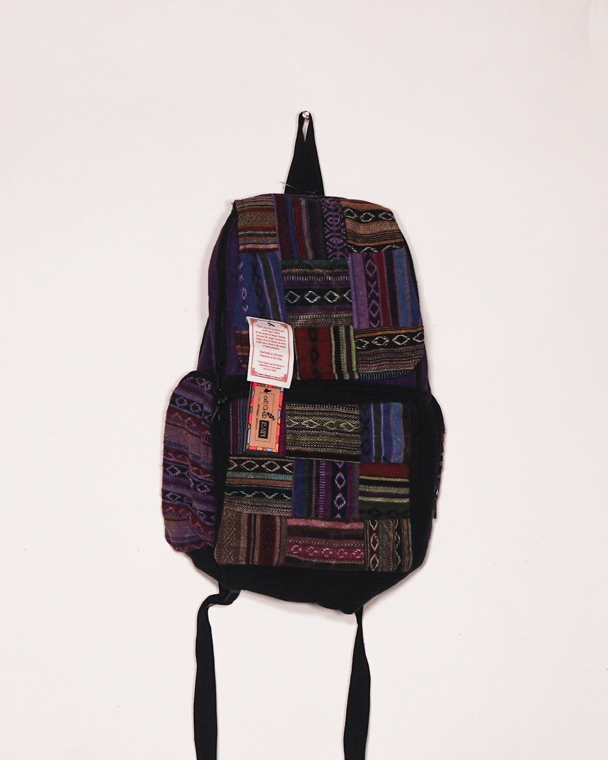 Striped Laptop Backpack