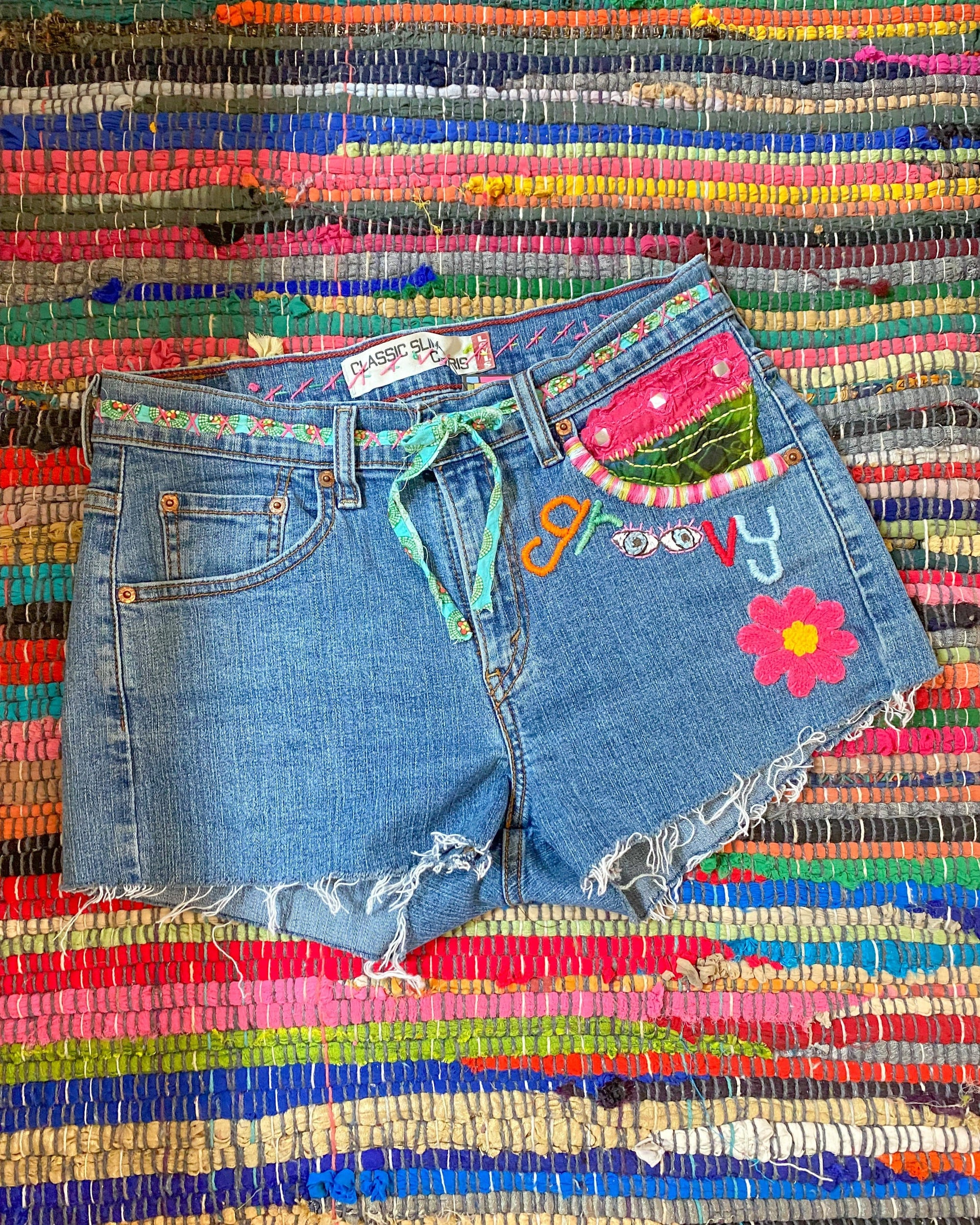 Groovy Jean Shorts