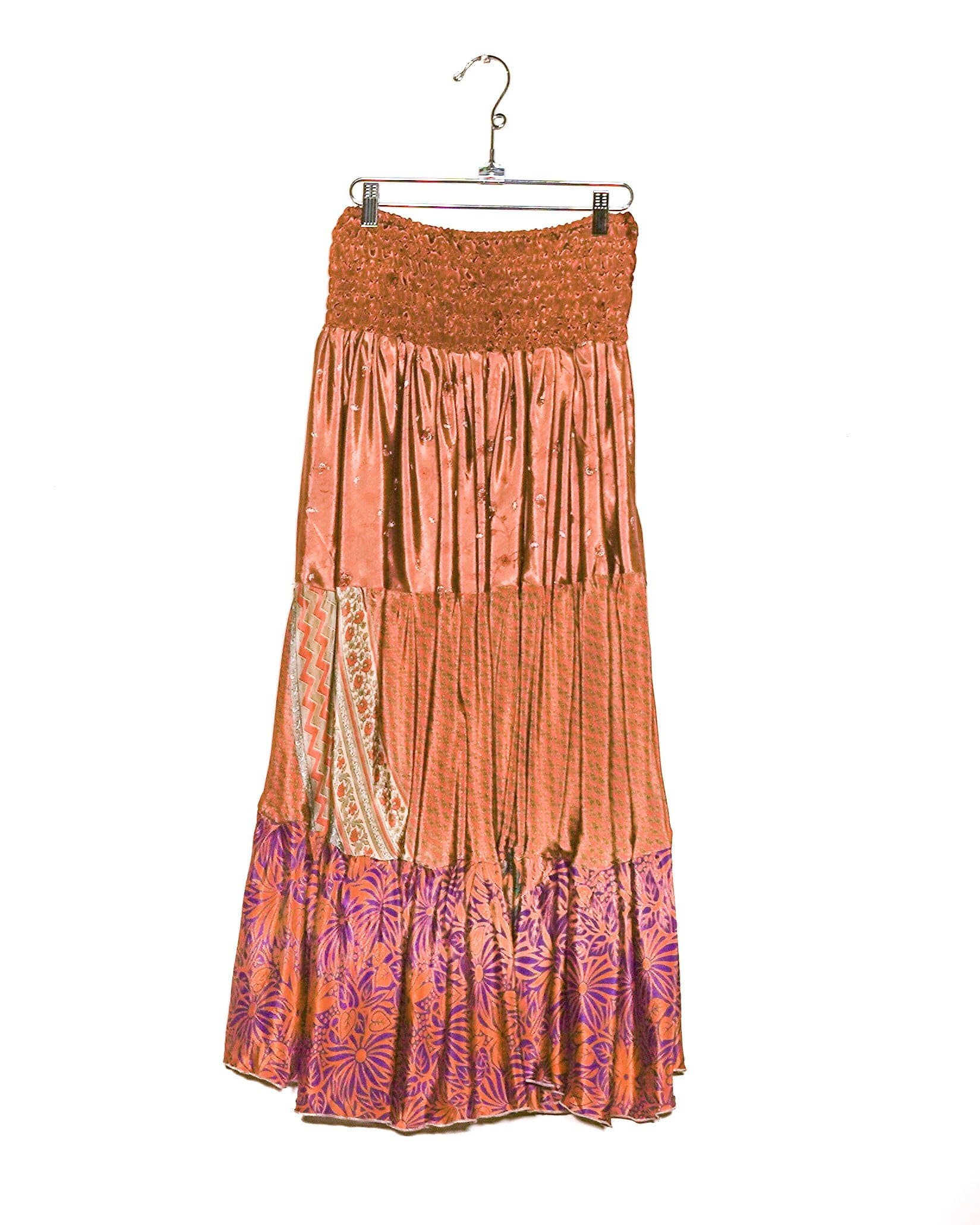 Cocoa Dreams Silk Maxi Skirt