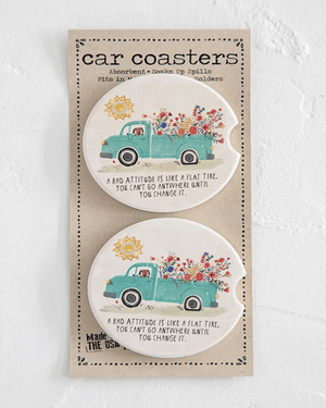 Bad Attitude Car Coaster Set