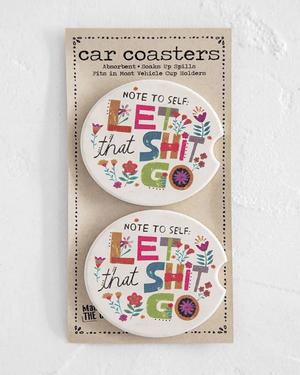 Note to Self Car Coaster Set