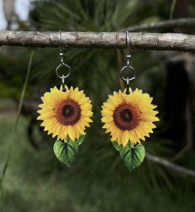 Vibrant Sunflower Earrings