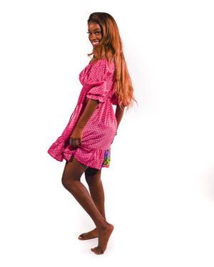 Bubblegum Babydoll Silk Dress
