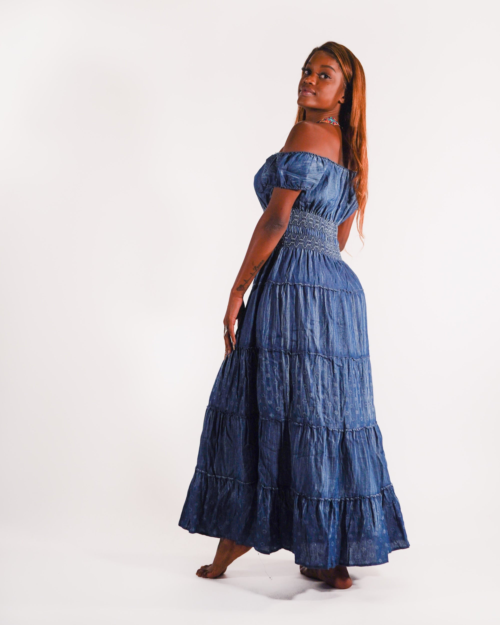 Denim Maxi Dress