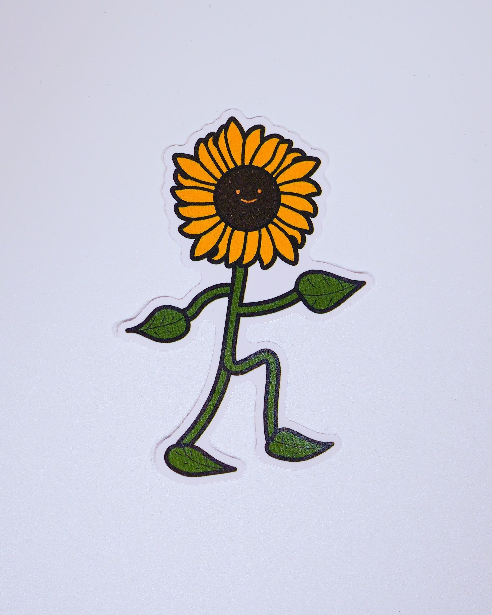 Sunflower Man Sticker