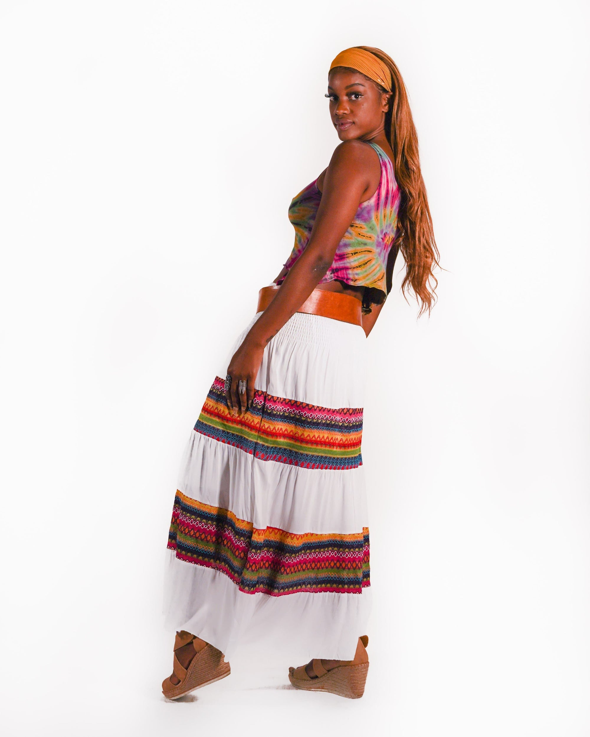 Rainbow Girl Skirt