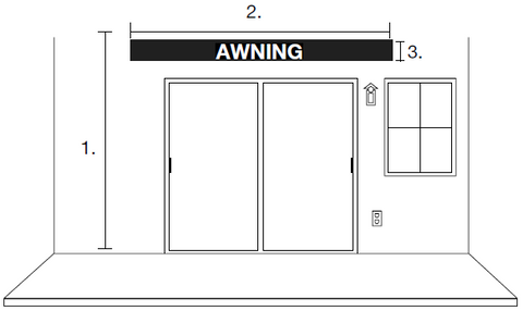 how to measure for awnings