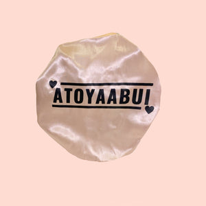atoyaabui satin double layer bonnet Rosé