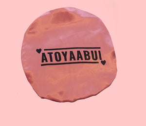 atoyaabui satin double layer bonnet OG