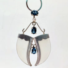 Load image into Gallery viewer, AVANI Silver Faux Tiger Claw Blue Imperial Pendant