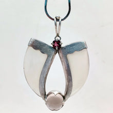 Load image into Gallery viewer, AVANI Silver Faux Tiger Claw Red Lens Pendant