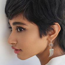 Load image into Gallery viewer, AVANI Silver Faux Tiger Claw Sunburst Earrings