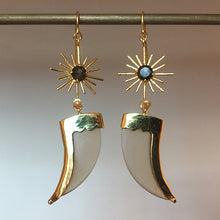 Load image into Gallery viewer, AVANI Gold Faux Tiger Claw Sunburst Earrings