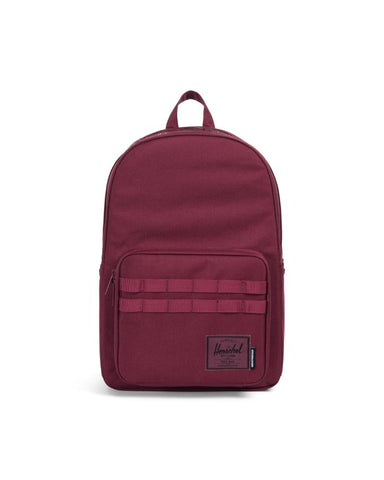 5e05ff1f68 HERSCHEL X INDEPENDENT POP QUIZ 600D POLY BACKPACK - WINDSOR WINE