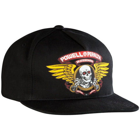 POWELL PERALTA WINGED RIPPER SNAPBACK - BLACK