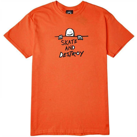 THRASHER GONZ SAD LOGO T-SHIRT - ORANGE