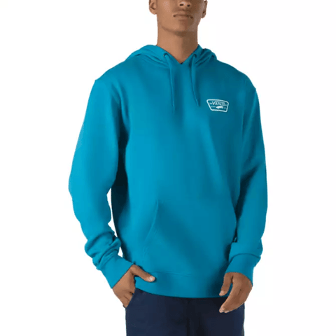VANS FULL PATCHED PULLOVER HOODIE -  TURKISH TILE