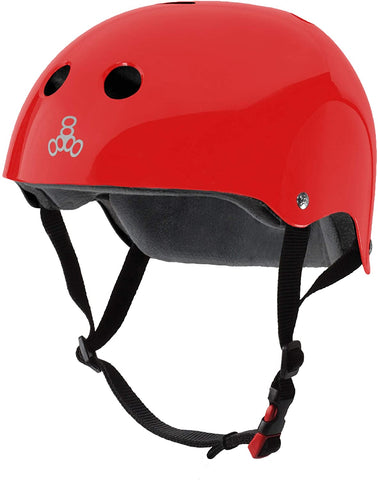 TRIPLE 8 SWEATSAVER HELMET - RED GLOSSY
