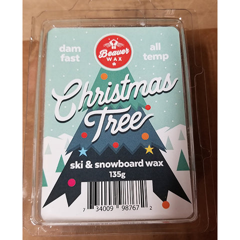 BEAVER WAX SCENTED SNOW WAX 135G - CHRISTMAS TREE