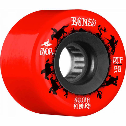 BONES ROUGH RIDERS ATF WRANGLER WHEELS - 59MM RED 80A