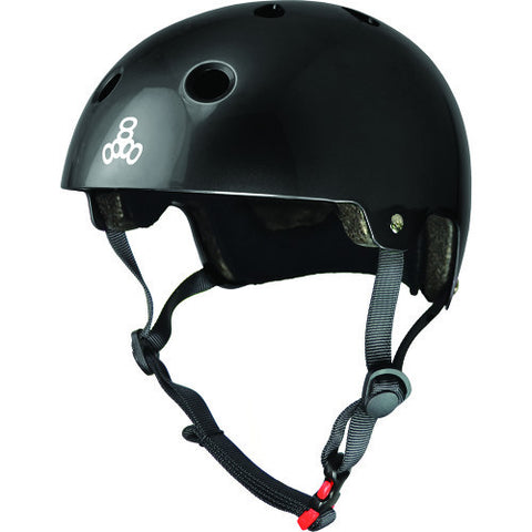 TRIPLE 8 BRAINSAVER HELMET - BLACK GLOSSY