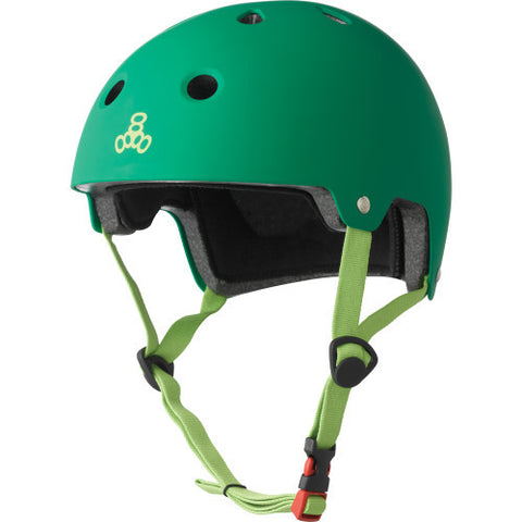 TRIPLE 8 BRAINSAVER HELMET - KELLY GREEN