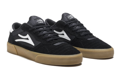 LAKAI CAMBRIDGE SHOES - BLACK GUM SUEDE